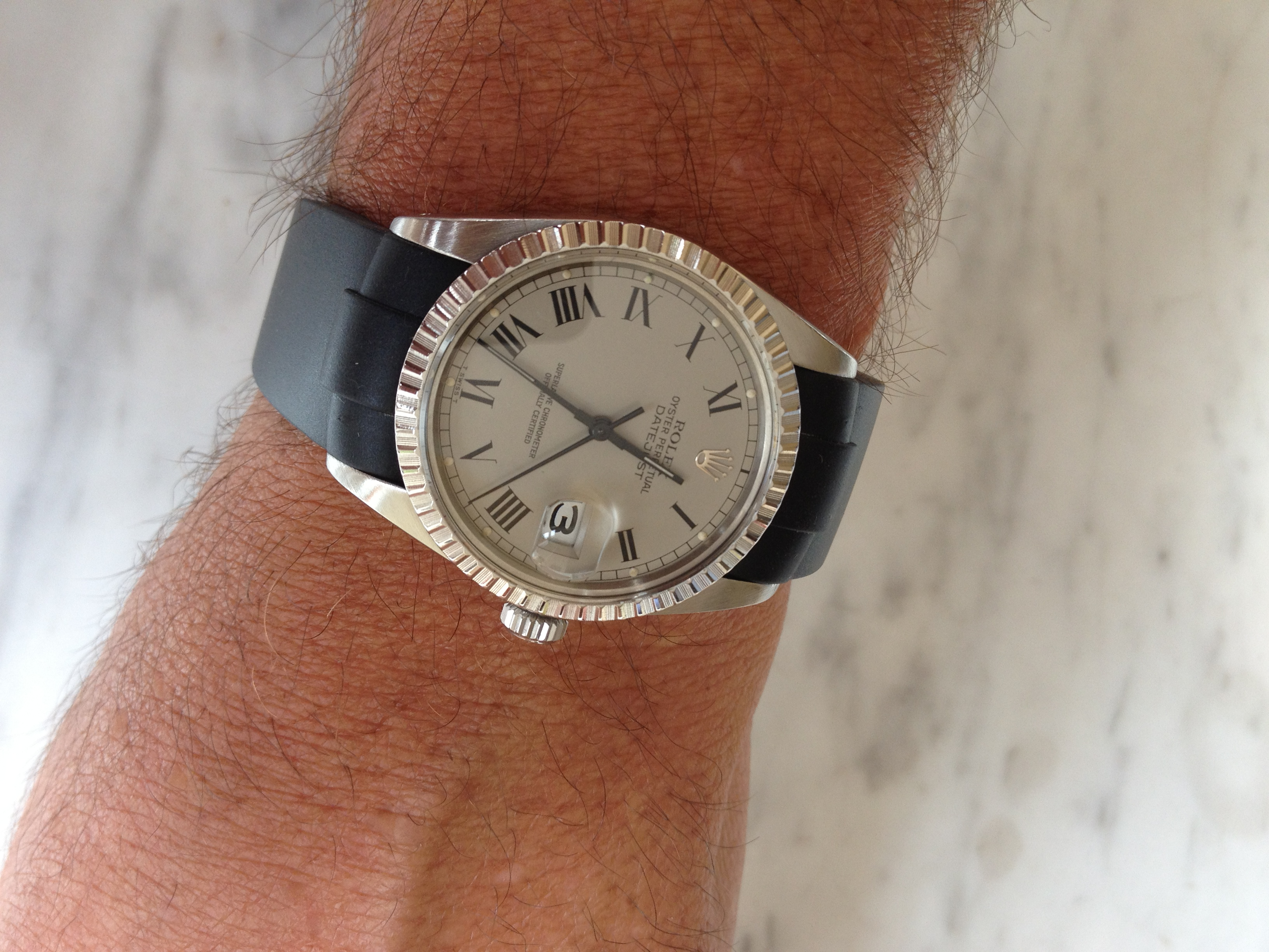 Rolex Datejust Ii Leather Strap
